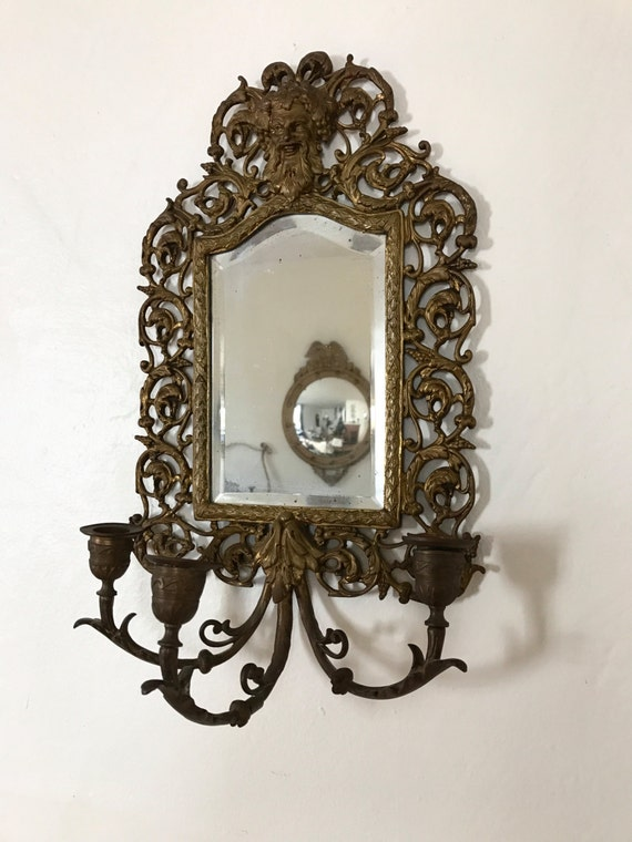 On Sale / Antique Mirror antique wall sconce mirrored