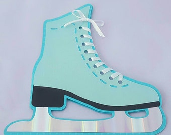 Handcrafted Ice Skate Shaped Invitations