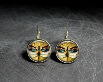 Dragonfly Insect Earrings Dangles - Dragonfly Insect Dangles Bug Earrings - Dragonfly Bug Dangles Insect Art Earrings By Trap Steam
