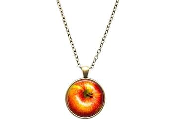 Apple pendant Nature necklace Fruit jewelry