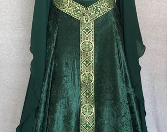 Custom, Hand Made to Order. 'Daniella' Medieval Dress, Fantasy Dress, Renaissance Dress, Wedding Dress