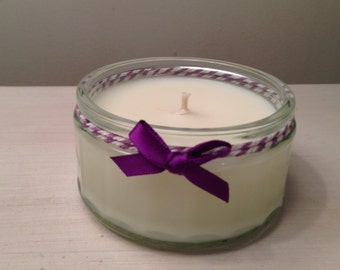 Small Handmade Soy Wax Candle Fragranced with 100% Pure Lemongrass Essential Oil Completely Natural Candle