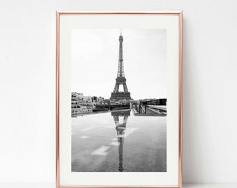 French Decor Black and White Prints, 30x45 Paris Photography, Eiffel Tower Wall Prints, Large Wall Art, Paris Decor, Travel Prints