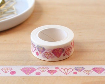 Washi tape diamond Washi tape, masking tape, decorative tape, scrapbooking
