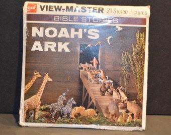 Vintage B851  1965 Bible Stories Noah's Ark GAF View Master Reels