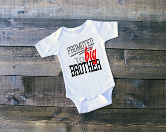 Promoted to Big Brother Onesie or Toddler Shirt