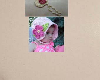 Awesome Deal! 2 Crochet Baby Bonnet Patterns!  DIGITAL DOWNLOAD ONLY!