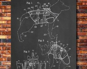 K9 Bullet Proof Vest Patent Print Art 2000