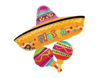 32 fiesta balloons fiesta party fiesta sombrero cinco de mayo decorations - Mexican Party Decorations