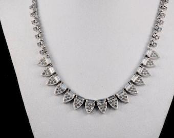 Vintage Kramer NY Rhinestone Choker Necklace