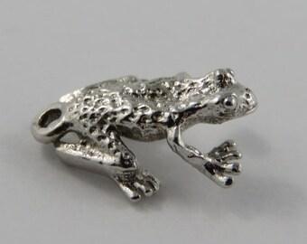 Frog Sterling Silver Vintage Charm For Bracelet