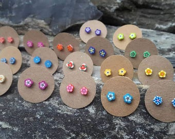 Flower earrings, ear studs, post earrings, stud earrings, studs for teenagers, tiny flower studs, everyday earrings
