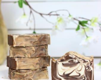 Soap Vanilla Hazelnut | Cold Process Soap | Coconut Milk Soap | Bath and Beauty | Handmade Soap | Natural Soap