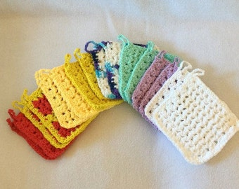 Washcloths, wash cloths, dishcloths, dish cloths, vegan facecloth, crocheted dishcloth, cotton washcloth, crochet facecloth, wash rags, rag