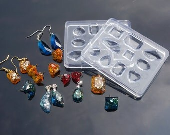 1PC Durable Silicone Molds for Earrings and Necklace Pendants