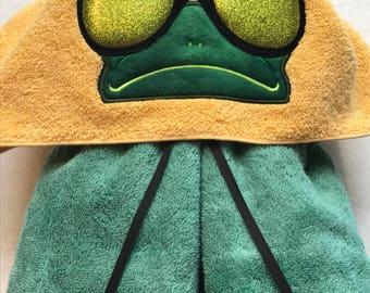 Frog Hooded Towel -  Hooded Towel - Towel - Cool Frog Towel - RedRockCraftsWy