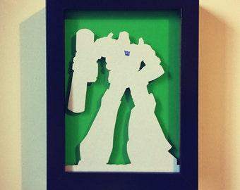 Megatron - Framed Handmade Cutout