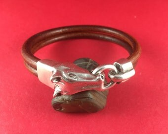 MADE in EUROPE zamak horse clasp, silver horse hook clasp (A77906/05) qty1