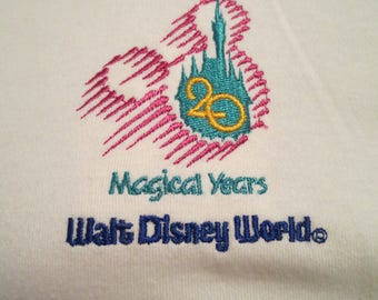 1990's Vintage Disney Walt Disney World 20th Anniversary Polo