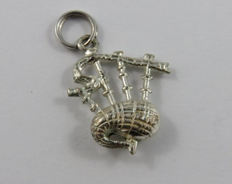 Bagpipes Sterling Silver Charm or Pendant.