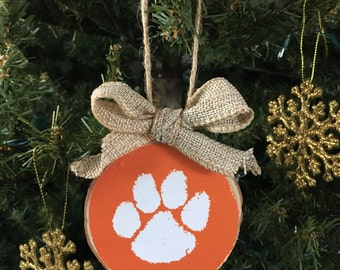 Clemson Ornament, Clemson Christmas gift, Clemson christmas ornament, Clemson decor, Clemson Holiday Gift, Clemson Photo Ornament