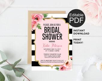 free bridal shower invite template