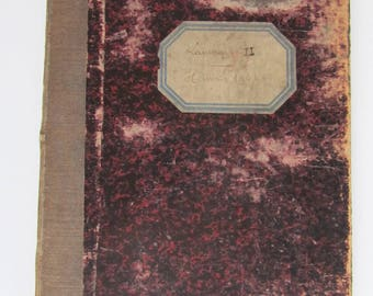 Antique 1904 French Fabric Sample Swatch Book
