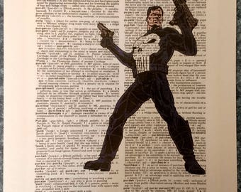 Marvel Comics The Punisher on dictionary page print