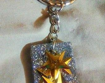 Resin Star keychain