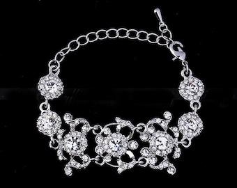 Crystal Bridal bracelet Swarovski Bridal Bracelet  Rhinestone bracelet Wedding Bridal Bracelets Bridal Jewelry Bridal accessory Gift for her