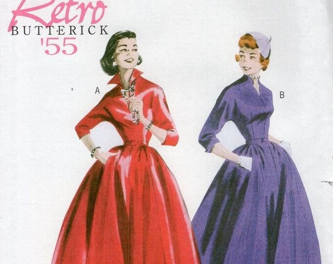 Butterick 5556 Free Us Ship Vintage Retro 1950s 50s Popped Collar Dress Uncut Size 8/14 16/22 Bust 31 32 34 36 38 40 42 44  plus