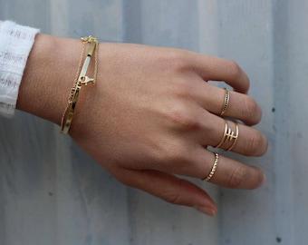 Black Diamond wedding band, black diamond band, Black stone ring - Gold ring - Simple gold ring - Minimal jewellery