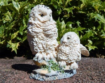 "Hamilton Collection Nesting Instincts Owl Sculpture Collection, ""A Watchful Eye"" (1994 Retired), Owl Figurine, Snowy Owl"