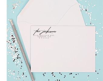 CUSTOM ADDRESS STAMP - Self Inking Return Address Stamp, Personalized Address Stamp Custom Stamp Address Invitation & Wedding address Stamp