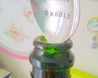 Bottle Stopper -Lovely Bubbly - Champagne Stopper, Wine Stopper, Prosecco Stopper