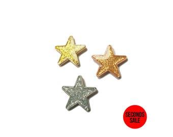 Glitter Star Enamel Pins / Lapel Pins
