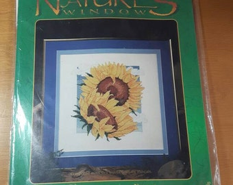 Designs For the Needle Nature's Window 5402 Sunflowers Counted Cross Stitch Kit