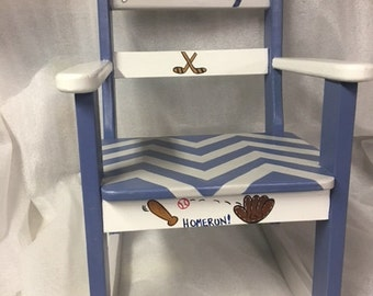 Child's Rocking Chair SPORTING SOME ZIGZAGS!