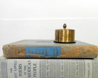 Vintage Stamp Dispenser, Brass Stamp Dispenser