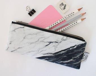 Marble pencil case/Marble pencil pouch,Marble zipper pouch/Original ANJESY designs.