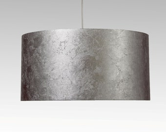 Lampshade, D.50 cm, silver-leaf-character