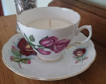 Teacup Soy Candle England Vintage China
