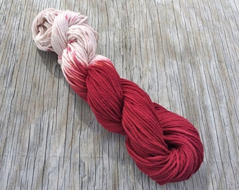 Red Velvet Cake - Worsted Cotton Yarn - Hand Dyed Yarn - Hand Dyed Cotton Yarn - Organic Yarn - Worsted Yarn - Variegated Worsted Weight