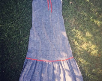Summer Sale! 40% off! VINTAGE 70's Prairie Style Sun Dress // Hippie // Boho