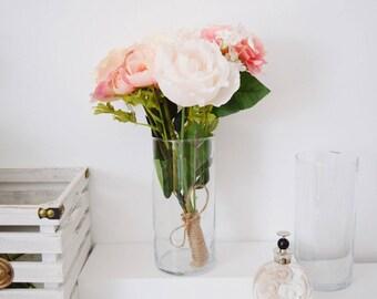 Faux Floral Arrangement | Faux Peonies | Roses | Flowers