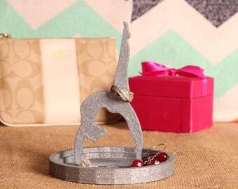 Gymnast Jewerly Dish - Gymnastics Gift - Jewerly Dish - Gymnast - Jewerly Tray - 3D Jewelry Dish - Multiple Colors Available