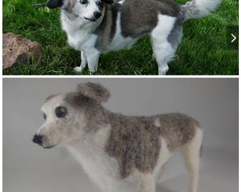 Custom Needle Felted Dog Ornament/Sculpture, Made to Order