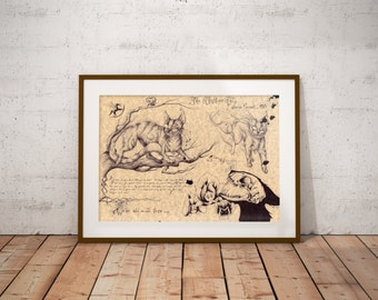 Medium - Cheshire Cat - Alice in Wonderland Art Print