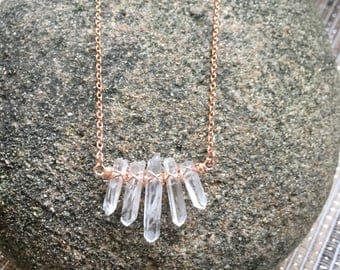 Mini Crystal Quartz Necklace
