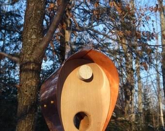 Copper and Cedar Bird Feeder - Bonnet